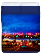 Chicago Skyway Toll Bridge Duvet Cover