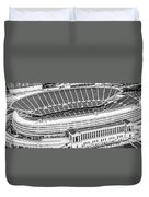 Chicago Soldier Field Aerial Panorama Photo Duvet Cover