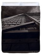 Chicago Structure Bw Duvet Cover