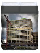 Chicago Sun Times Facade After The Storm Duvet Cover