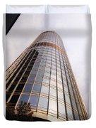 Chicago Sunrays On Trump Tower Duvet Cover