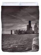 Chicago Sunrise Bw Duvet Cover