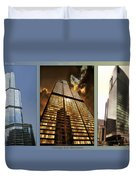 Chicago Tall Shoulders Trump Sears 333 W Wacker Triptych 3 Panel 01 Duvet Cover