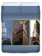 Chicago Tall Shoulders Trump Sears 333 Wacker Triptych 3 Panel 03 Duvet Cover