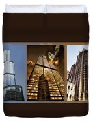 Chicago Tall Shoulders Trump Sears Tribune Triptych 3 Panel 01 Duvet Cover