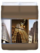 Chicago Tall Shoulders Trump Sears Tribune Triptych 3 Panel 02 Duvet Cover