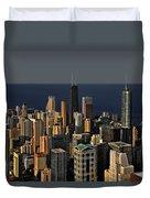 Chicago - That Famous Skyline Duvet Cover by Christine Till