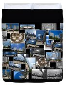 Chicago The Bean Collage Duvet Cover