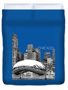 Chicago The Bean - Royal Blue Duvet Cover