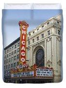 Chicago Theater Facade Southside Duvet Cover