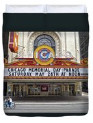 Chicago Theater Signage Duvet Cover