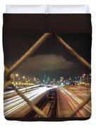 Chicago Long Exposure Duvet Cover