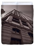 Chicago Towers Bw Duvet Cover