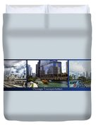 Chicago Transportation Triptych 3 Panel Hdr 01 Duvet Cover