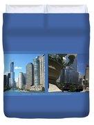 Chicago Trump Tower Under Const 2 Panel Duvet Cover