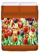 Chicago Tulips Duvet Cover