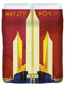 Chicago World Fair A Century Of Progress Expo Poster  1933 Duvet Cover