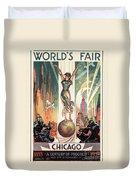 Chicago World's Fair 1933 Duvet Cover