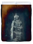 Chicago Wrigley Clock Tower Textured Duvet Cover