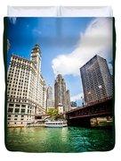 Chicago Wrigley Tribune Equitable Buildings Photo Duvet Cover