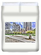 Chicago's Jane Addams Memorial Park From The Series The Imprint Of Man In Nature Duvet Cover