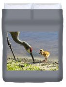 Chick At The Lake Duvet Cover