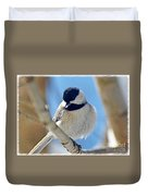 Chickadee On A Bright Day  Duvet Cover