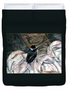 Chickadee On A Sneaker Duvet Cover