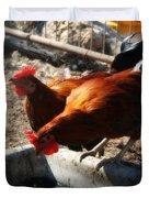 Chicken A La Carte Duvet Cover
