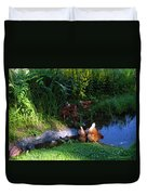 Chicken By The Pond Duvet Cover