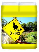 Chicken Crossing Duvet Cover