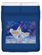 Chicken Duo Duvet Cover