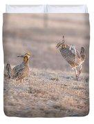 Chicken Fight Duvet Cover