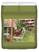 Chicken In The Chair Duvet Cover