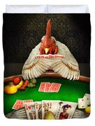 Chicken - Playing Chicken Duvet Cover