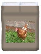 Chicken Portrait Duvet Cover