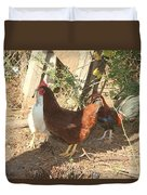 Chickens In The Pin Duvet Cover