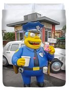 Chief Clancy Wiggum From The Simpsons Duvet Cover