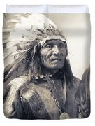 Chief He Dog Of The Sioux Nation  C. 1900 Duvet Cover
