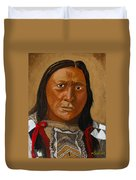 Chief Hollow Horn Bear Duvet Cover