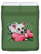 Chihuahua Who Came To Visit Duvet Cover