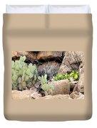 Chihuahuan  Desert Cacti Duvet Cover