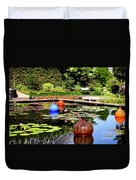 Chihuly Ball Lily Pond Duvet Cover
