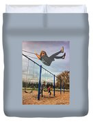 Child On Swing Duvet Cover