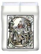 Childbirth, 1499 Duvet Cover