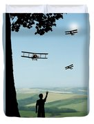 Childhood Dreams The Flypast Duvet Cover by John Edwards