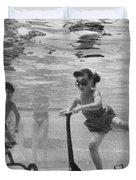 Children Playing Under Water Duvet Cover