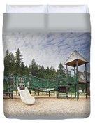 Childrens Playground At Lake Merwin Park Duvet Cover