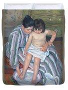 Child's Bath 1893 Duvet Cover by  Mary Stevenson Cassatt