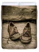 Child's Old Leather Shoes Duvet Cover by Edward Fielding